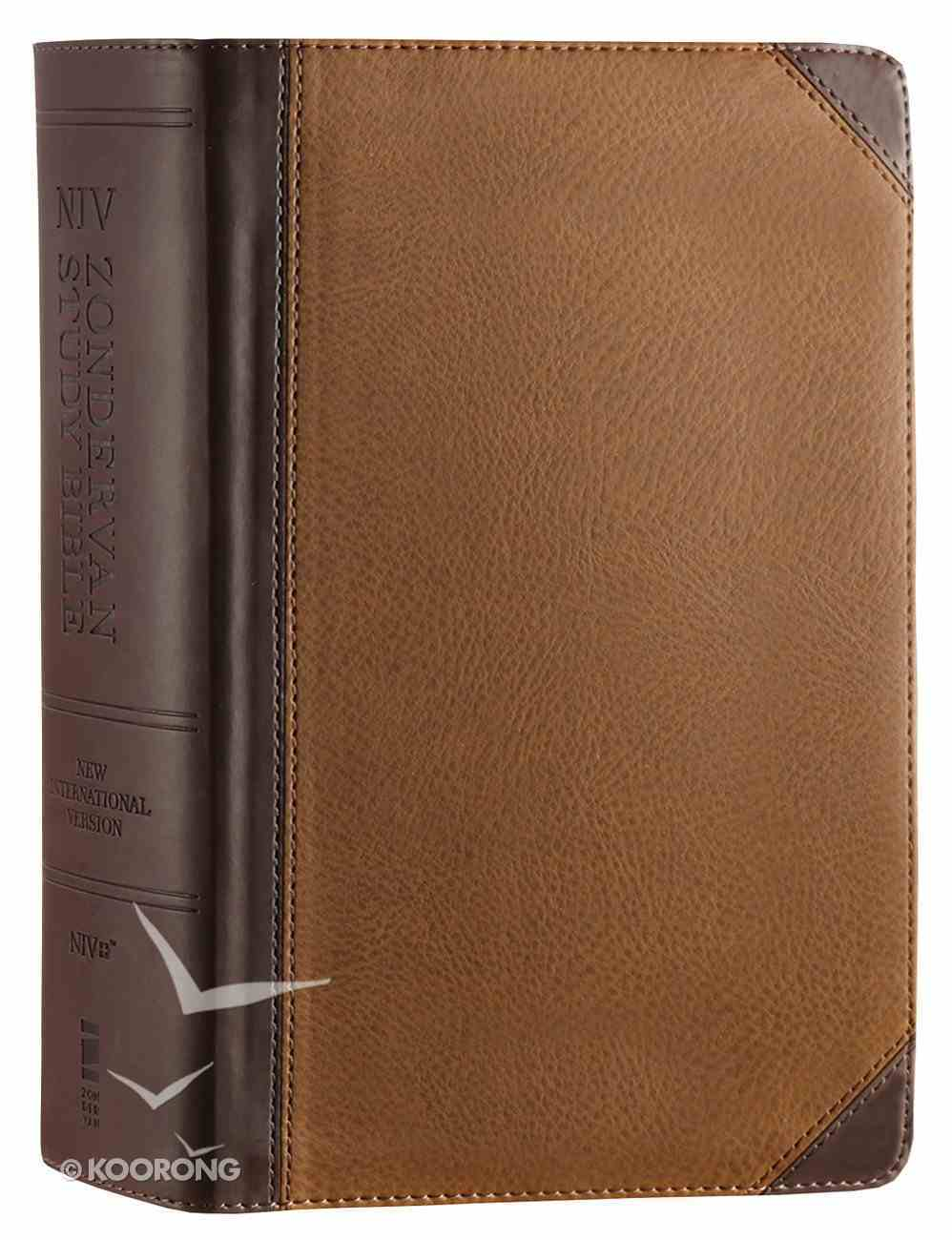 NIV Zondervan Study Bible Full Colour Personal Size Chocolate Caramel (Black Letter Edition) Premium Imitation Leather