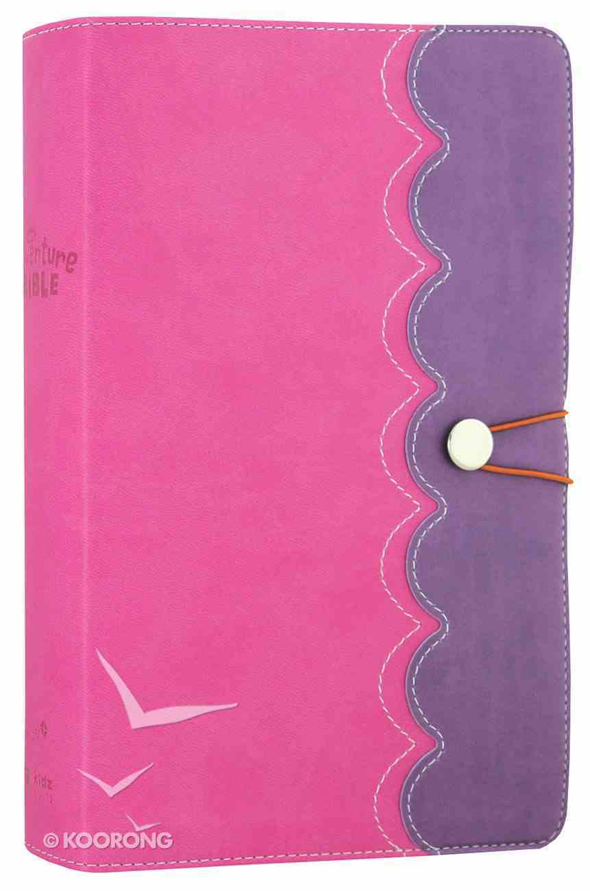 NIRV Adventure Bible For Early Readers Amethyst Pink With Closure (Black Letter Edition) Premium Imitation Leather