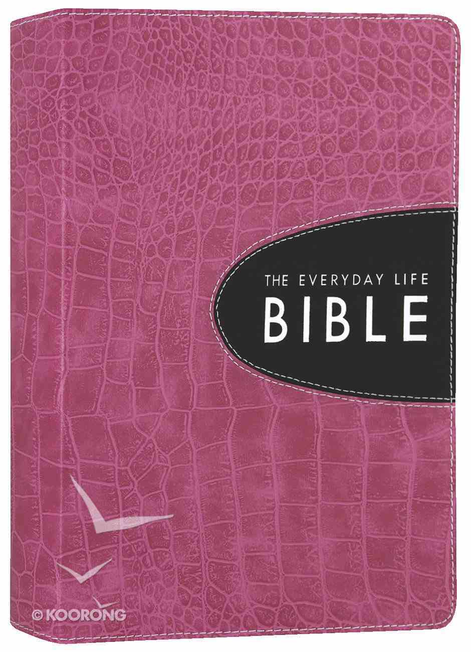 Amplified Everyday Life Bible, the Pink With Espresso Inset Imitation Leather
