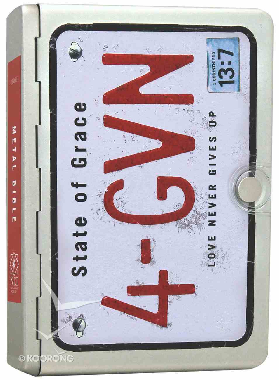 NLT Metal Bible Silver 4-Gvn (Black Letter Edition) Metal