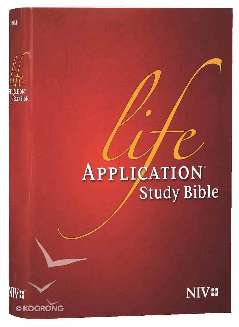 NIV Life Application Study Bible (Red Letter Edition) Hardback