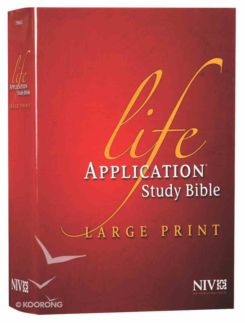 NIV Life Application Study Bible Large Print (Red Letter Edition) Hardback