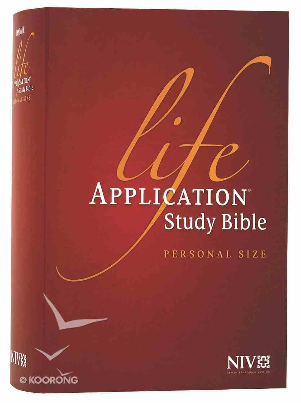 NIV Life Application Study Bible Personal Size (Black Letter Edition) Hardback