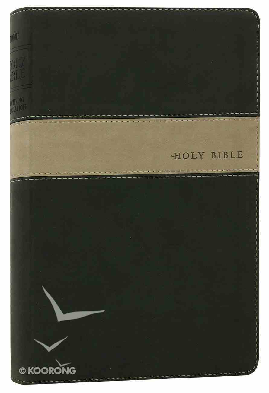 NLT Premium Gift Bible Evergreen/Stone (Red Letter Edition) Imitation Leather