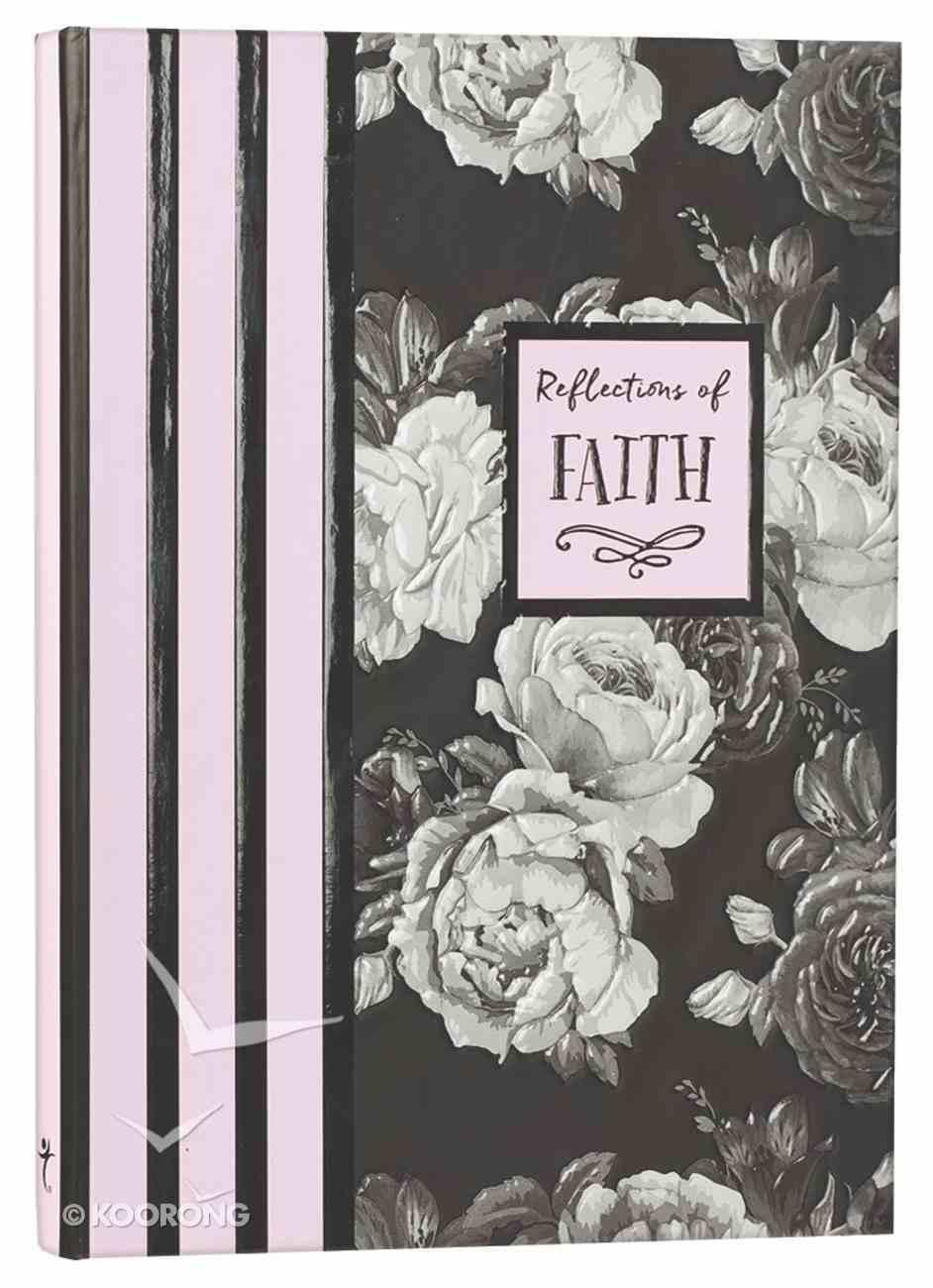 Botanical Journal: Reflections of Faith, Pink/Black/White/Roses Hardback