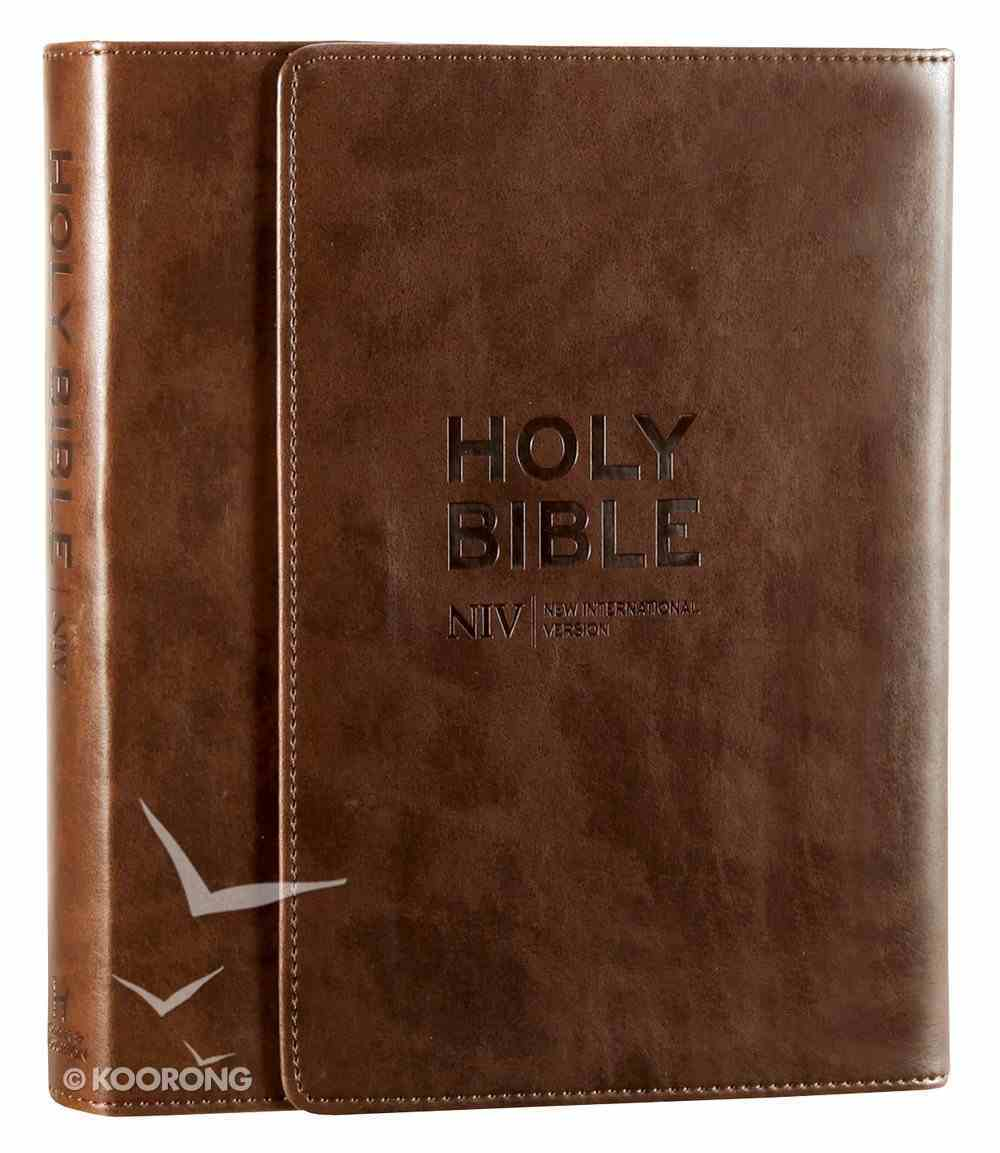 NIV Journalling Bible Brown With Clasp Imitation Leather