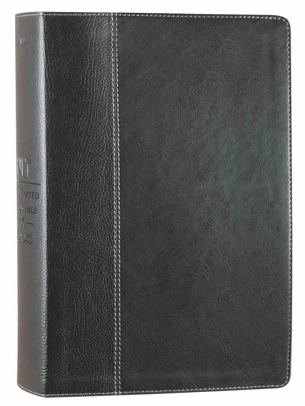 NLT Illustrated Study Bible Black/Onyx (Black Letter Edition) Imitation Leather