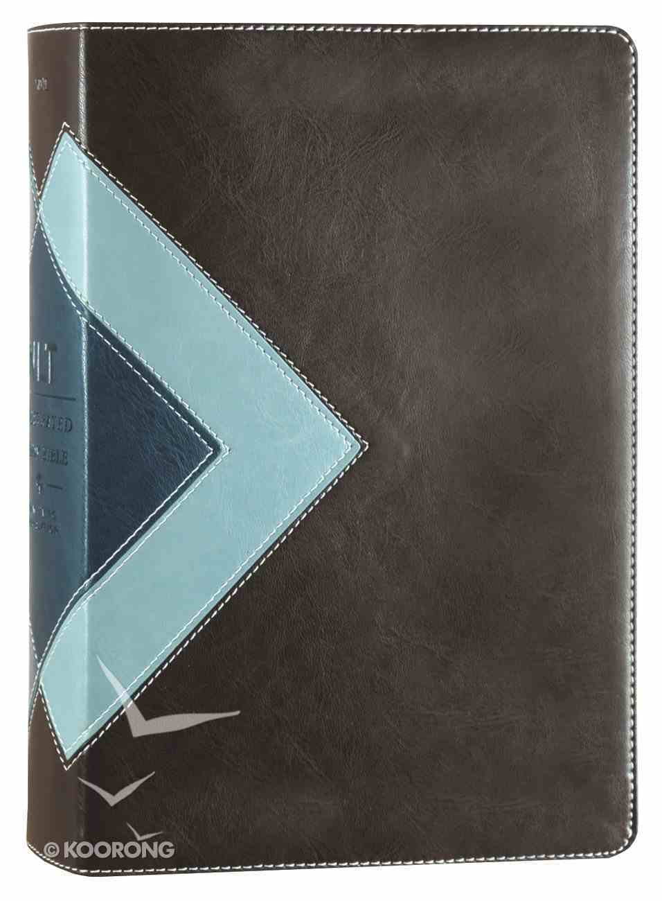 NLT Illustrated Study Bible Teal/Brown (Black Letter Edition) Imitation Leather