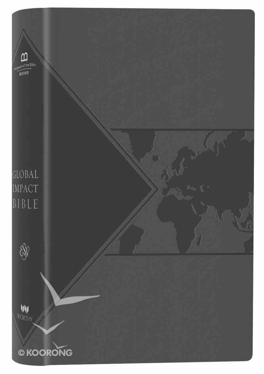 ESV Global Impact Bible Charcoal Imitation Leather