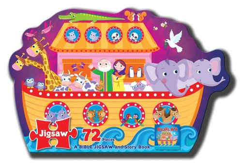 Product: Jigsaw Puzzle: Noah's Ark - A Bible Jigsaw And Story Book Image