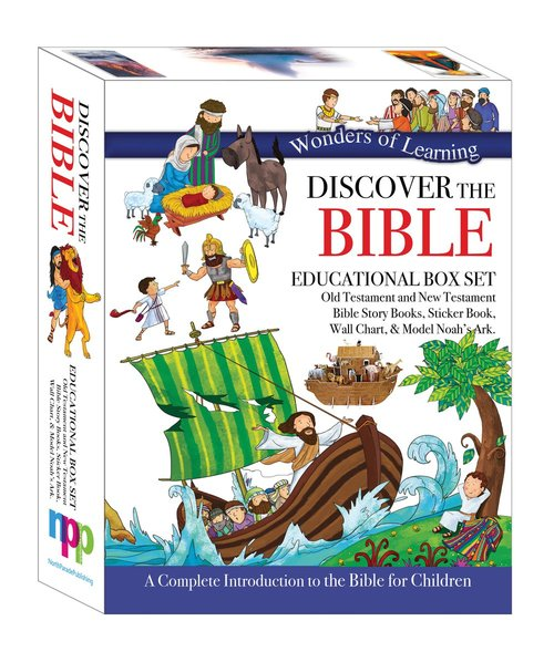 Product: Wonders Of Learning Box Set - Old & New Testament Reference Books, Sticker Book, Colouring Wall Chart And Model Ark Kit Image