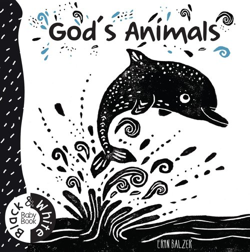 Product: God's Animals: Black And White Baby Book Image