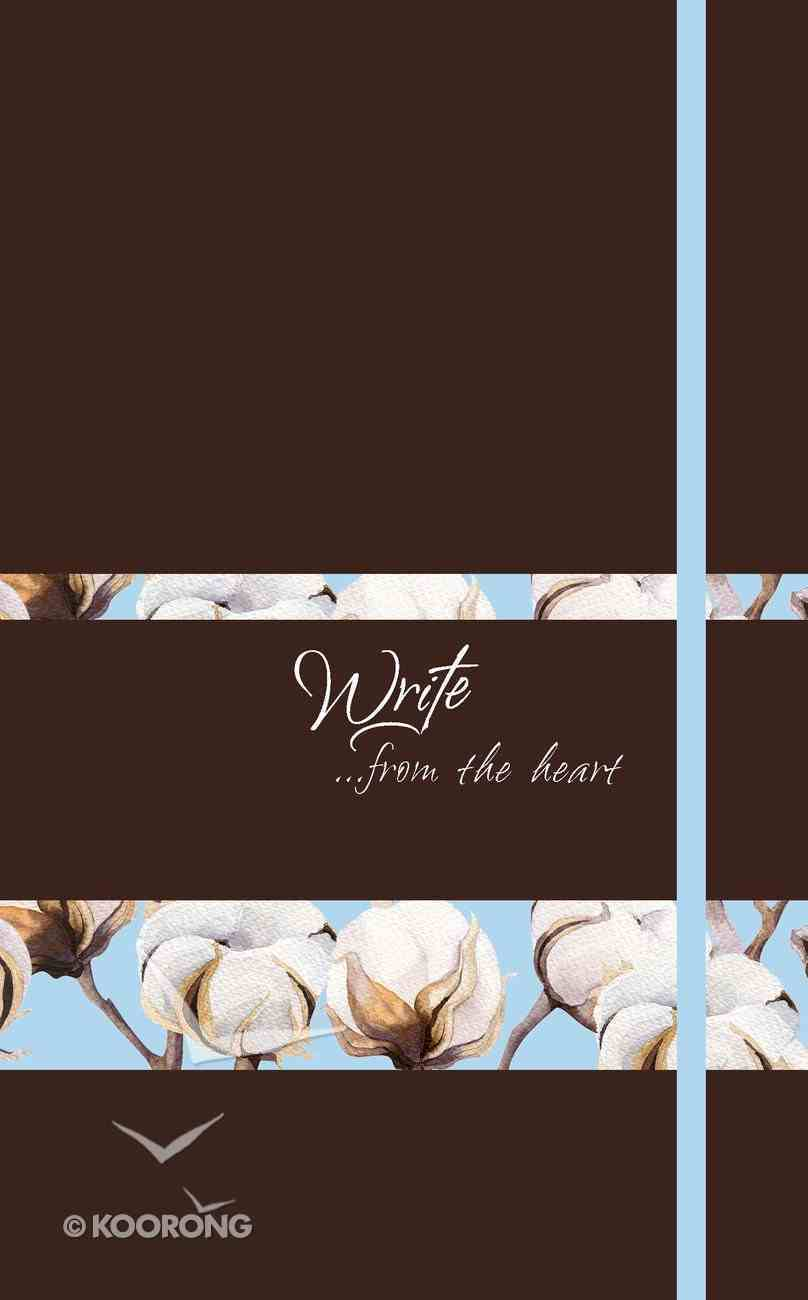 Journal: Write...From the Heart, Cotton Flowers (Nutmeg) Imitation Leather