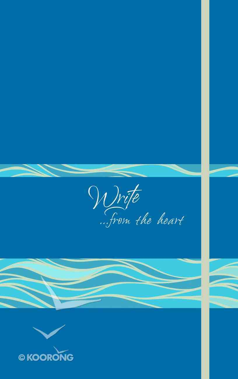 Journal: Write...From the Heart, Ocean Waves (Caribbean Blue) Imitation Leather