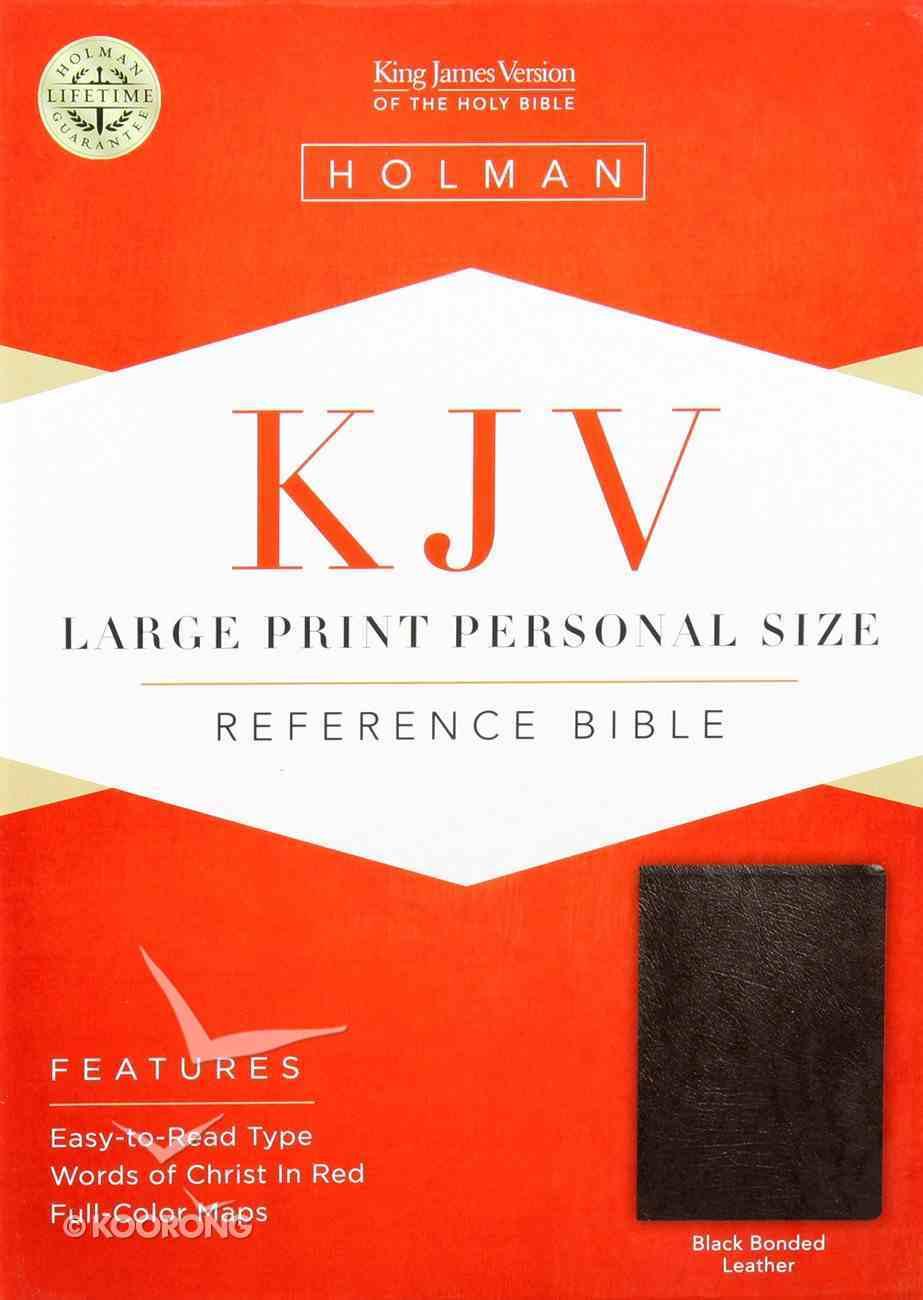 KJV Hand Size Large Print Reference Bible Black Bonded Leather