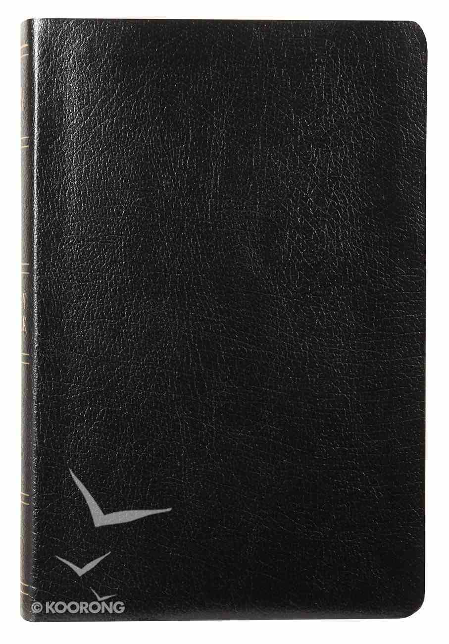 KJV Hand Size Large Print Reference Black Indexed Bonded Leather