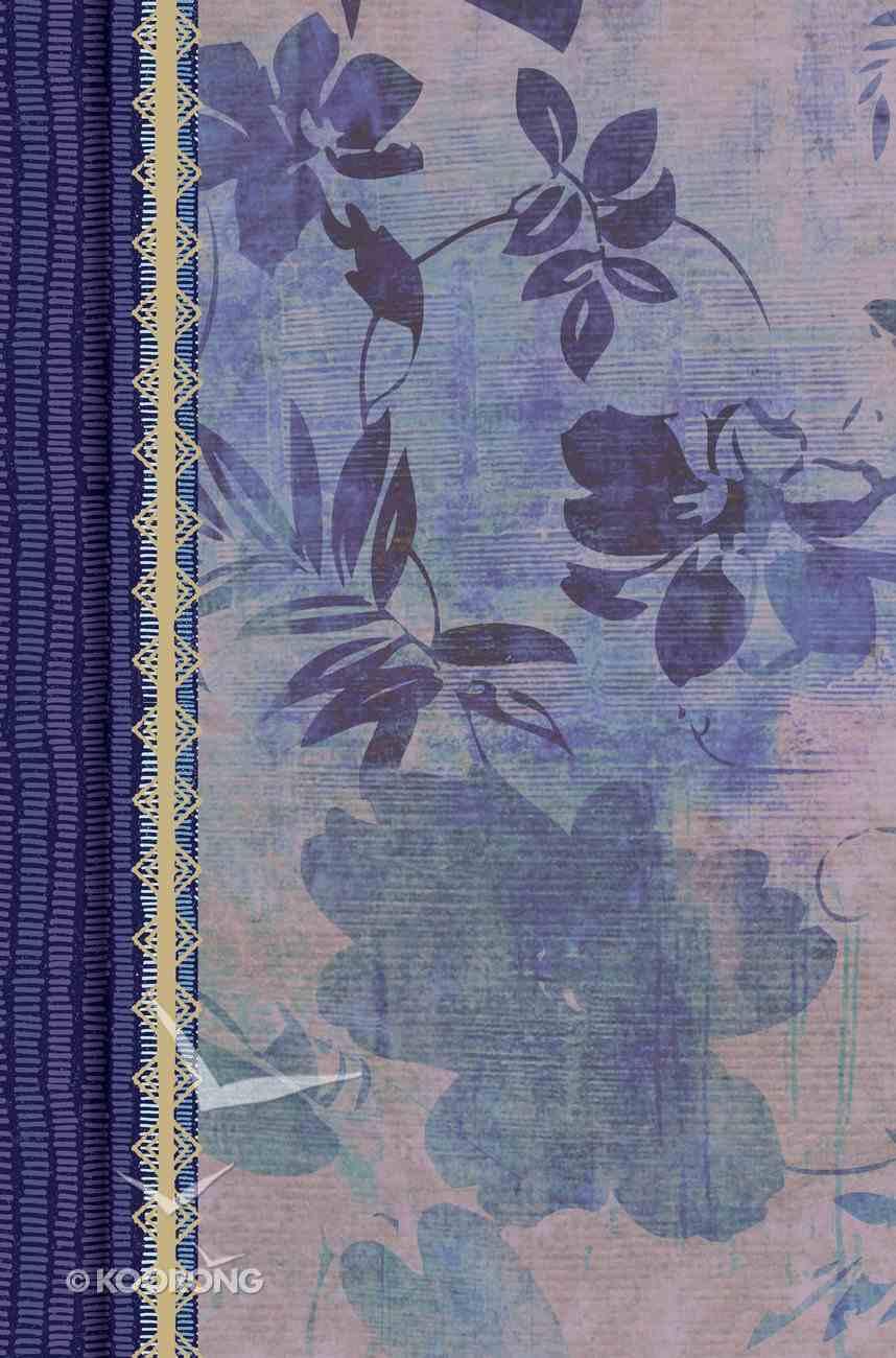 Rvr 1960 Biblia De Estudio Para Mujeres Azul Floreado Tela Impresa Con Ndice Hardback