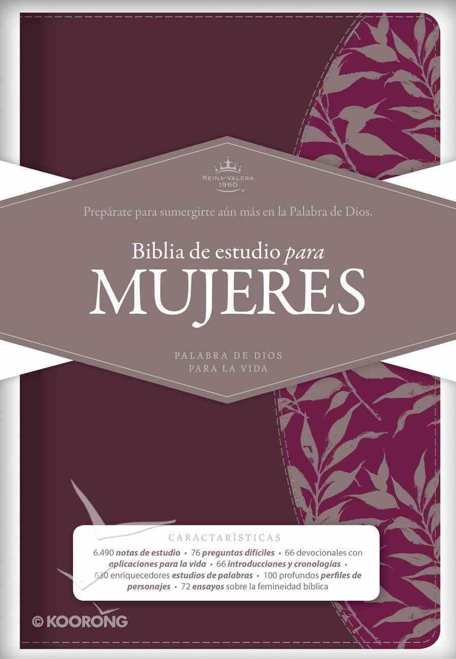 Rvr 1960 Biblia De Estudio Para Mujeres Tinto Smil Piel Imitation Leather