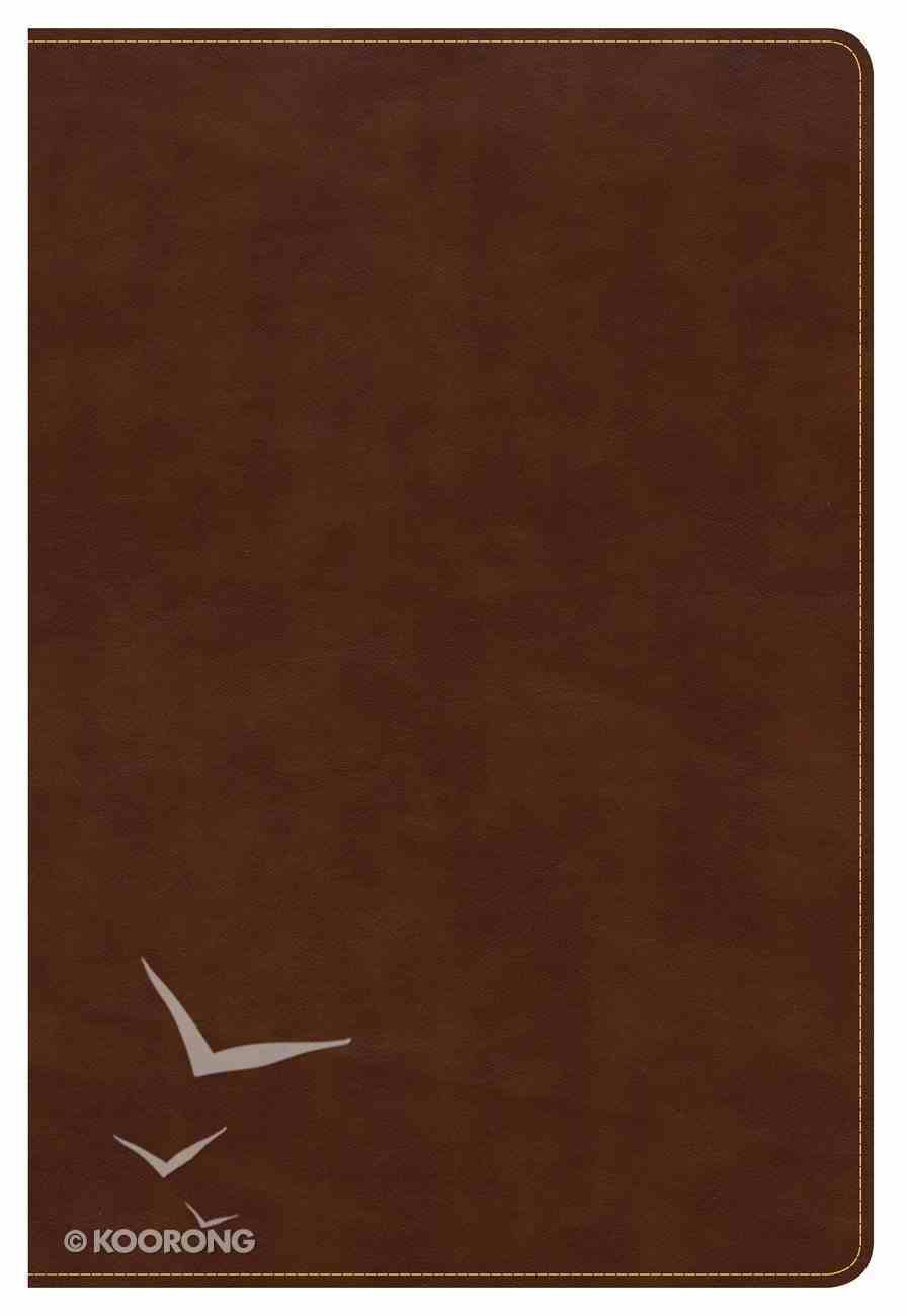 CSB Large Print Ultrathin Reference Bible British Tan (Black Letter Edition) Imitation Leather