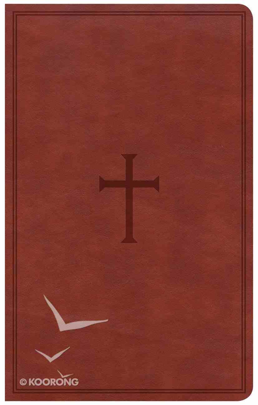 CSB Ultrathin Reference Bible Brown Red Letter Edition Imitation Leather