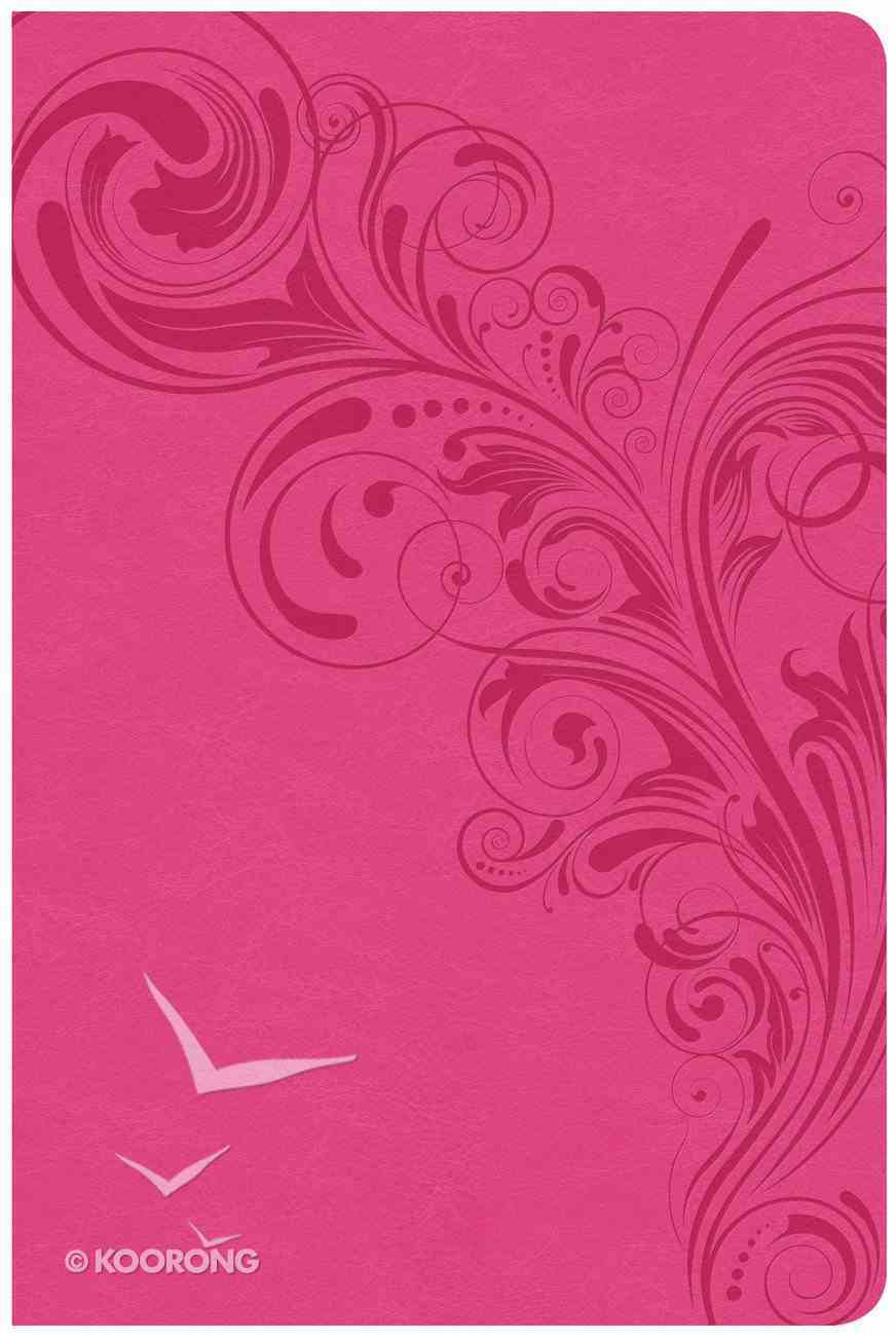 CSB Large Print Personal Size Reference Bible Pink Indexed Red Letter Edition Imitation Leather
