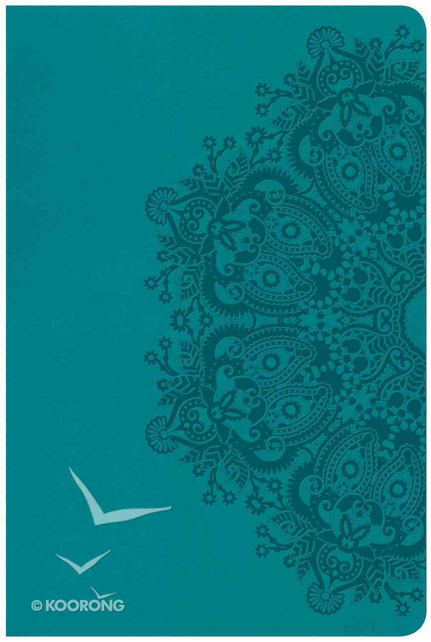 CSB Large Print Personal Size Reference Bible Teal Red Letter Edition Imitation Leather