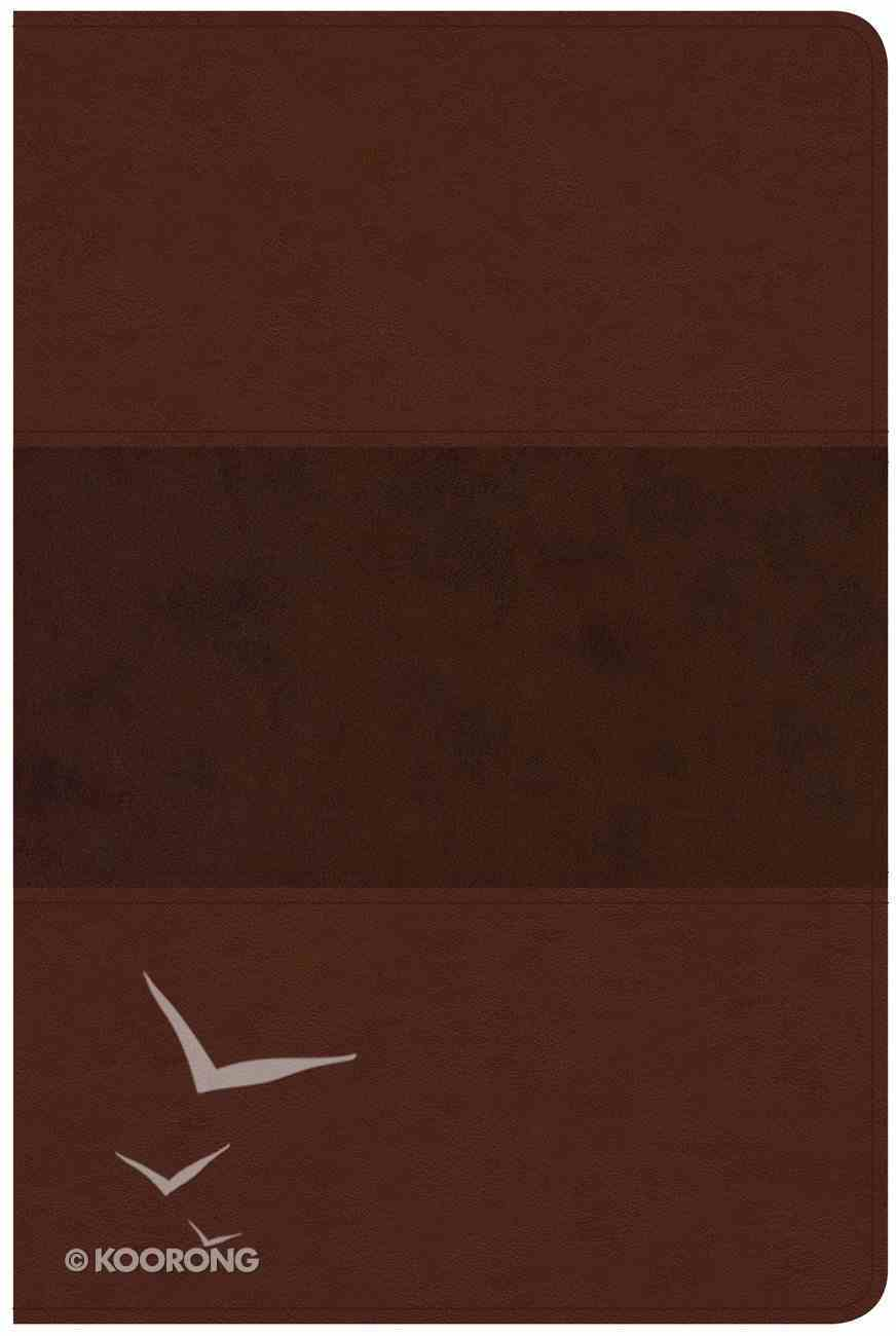 CSB Large Print Personal Size Reference Bible Saddle Brown Leathertouch Imitation Leather