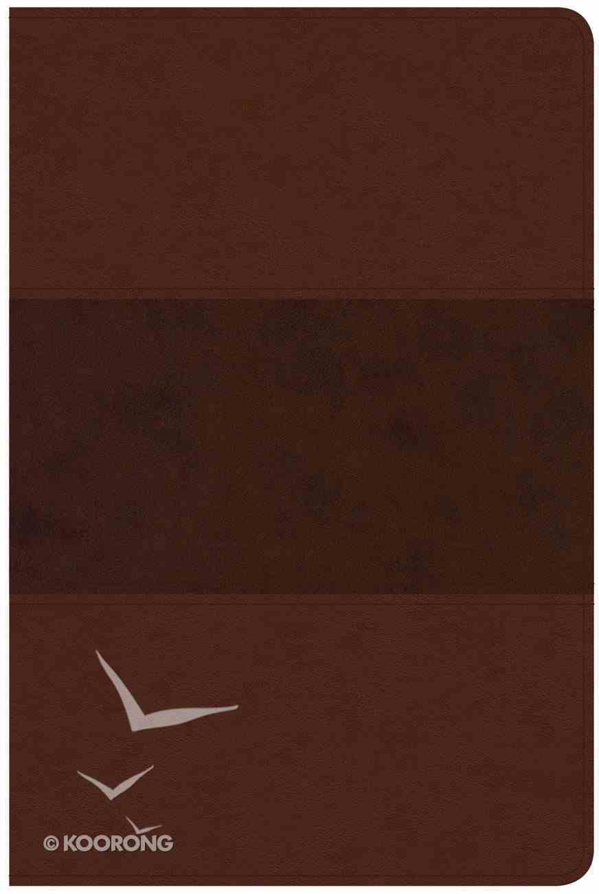 CSB Large Print Personal Size Reference Bible Indexed Saddle Brown Imitation Leather