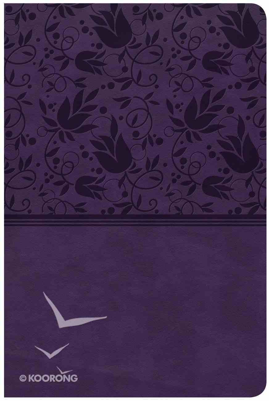 CSB Large Print Personal Size Reference Bible Purple Red Letter Edition Imitation Leather