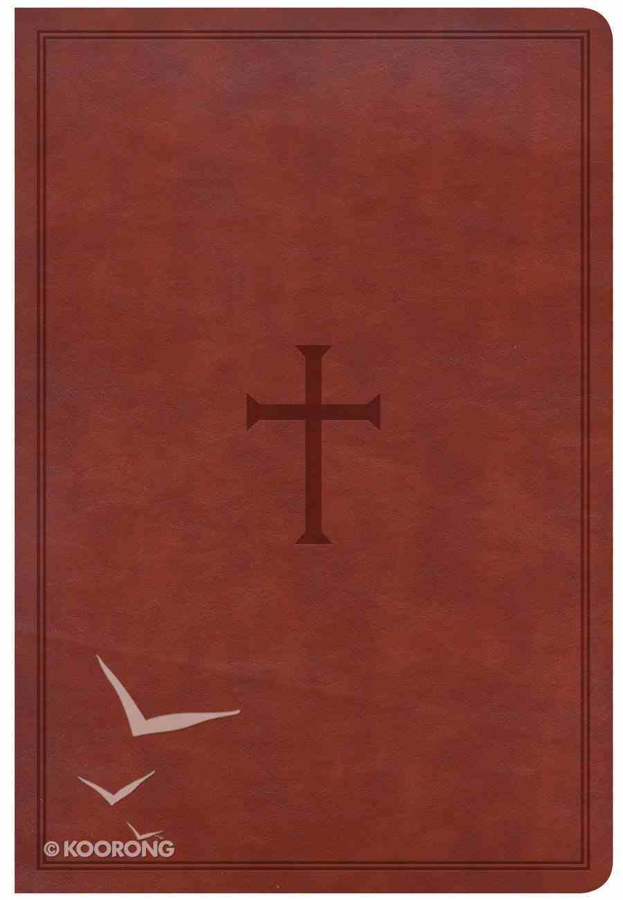 CSB Giant Print Reference Bible Brown (Red Letter Edition) Imitation Leather