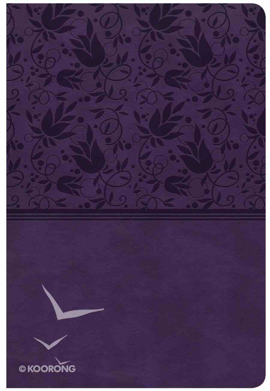 CSB Giant Print Reference Bible Purple Indexed (Red Letter Edition) Imitation Leather