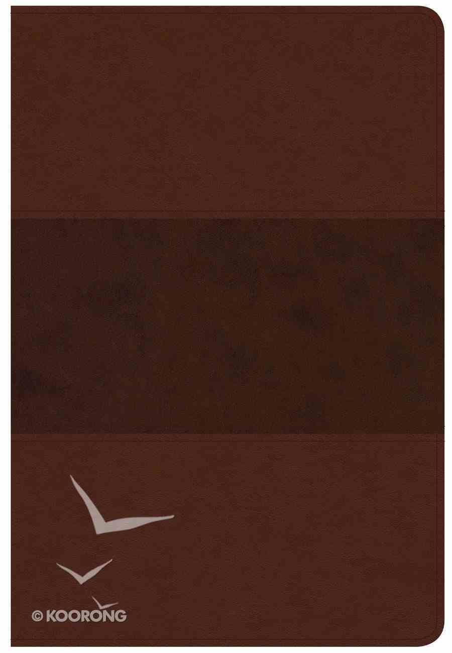 CSB Giant Print Reference Bible Saddle Brown Red Letter Edition Imitation Leather