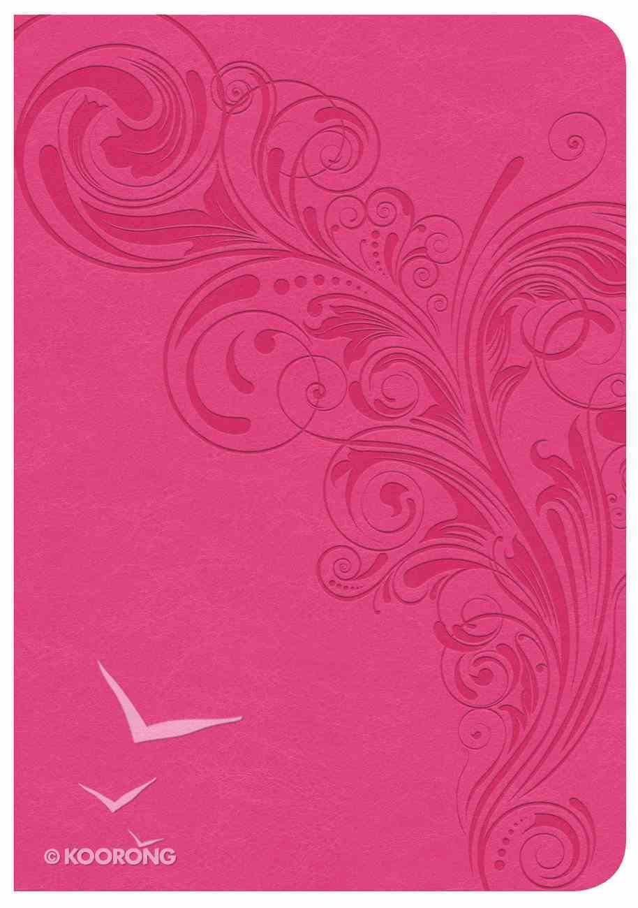 CSB Large Print Compact Reference Bible Pink Indexed (Red Letter Edition) Imitation Leather