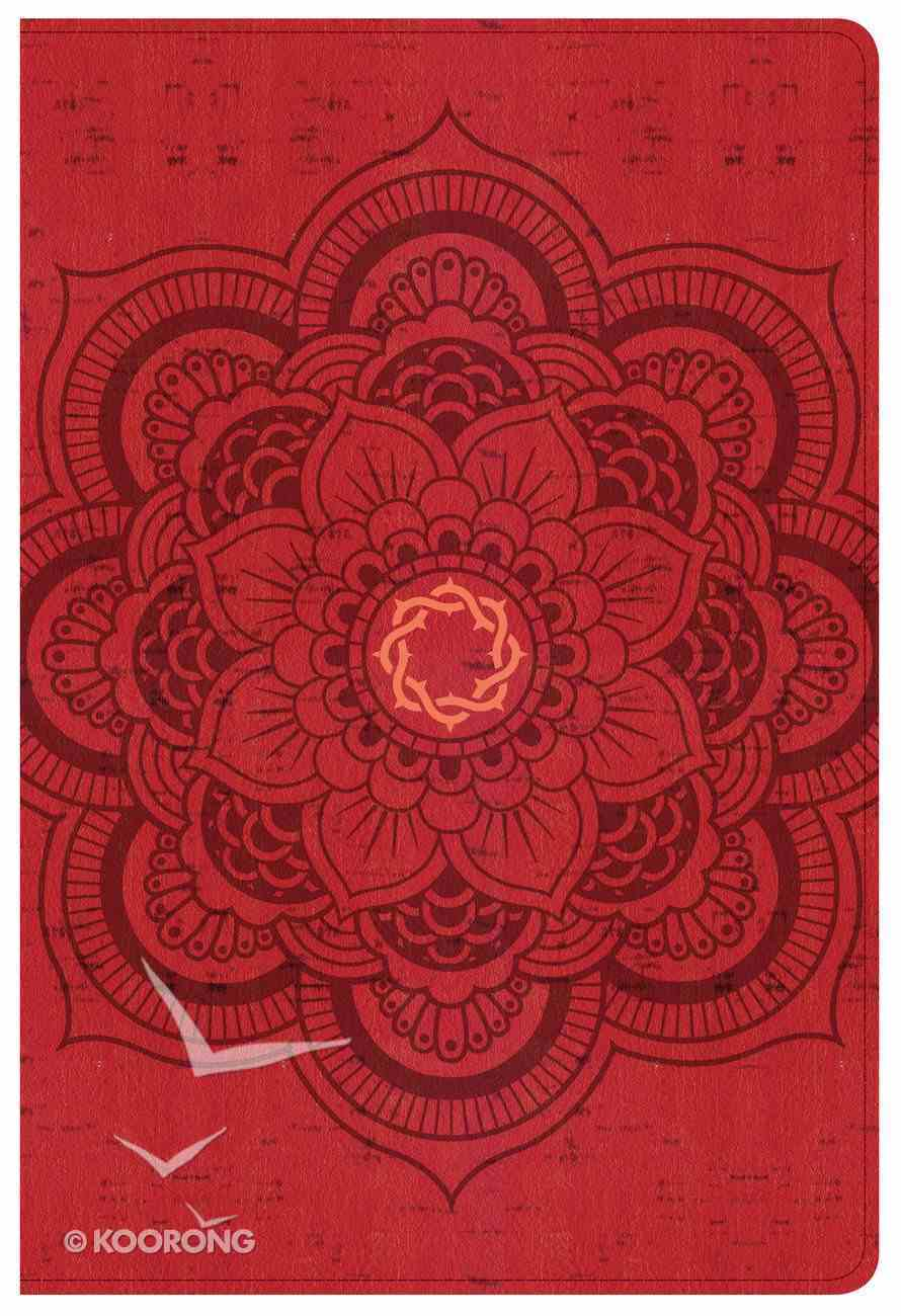 CSB Essential Teen Study Bible Red Flower Imitation Leather