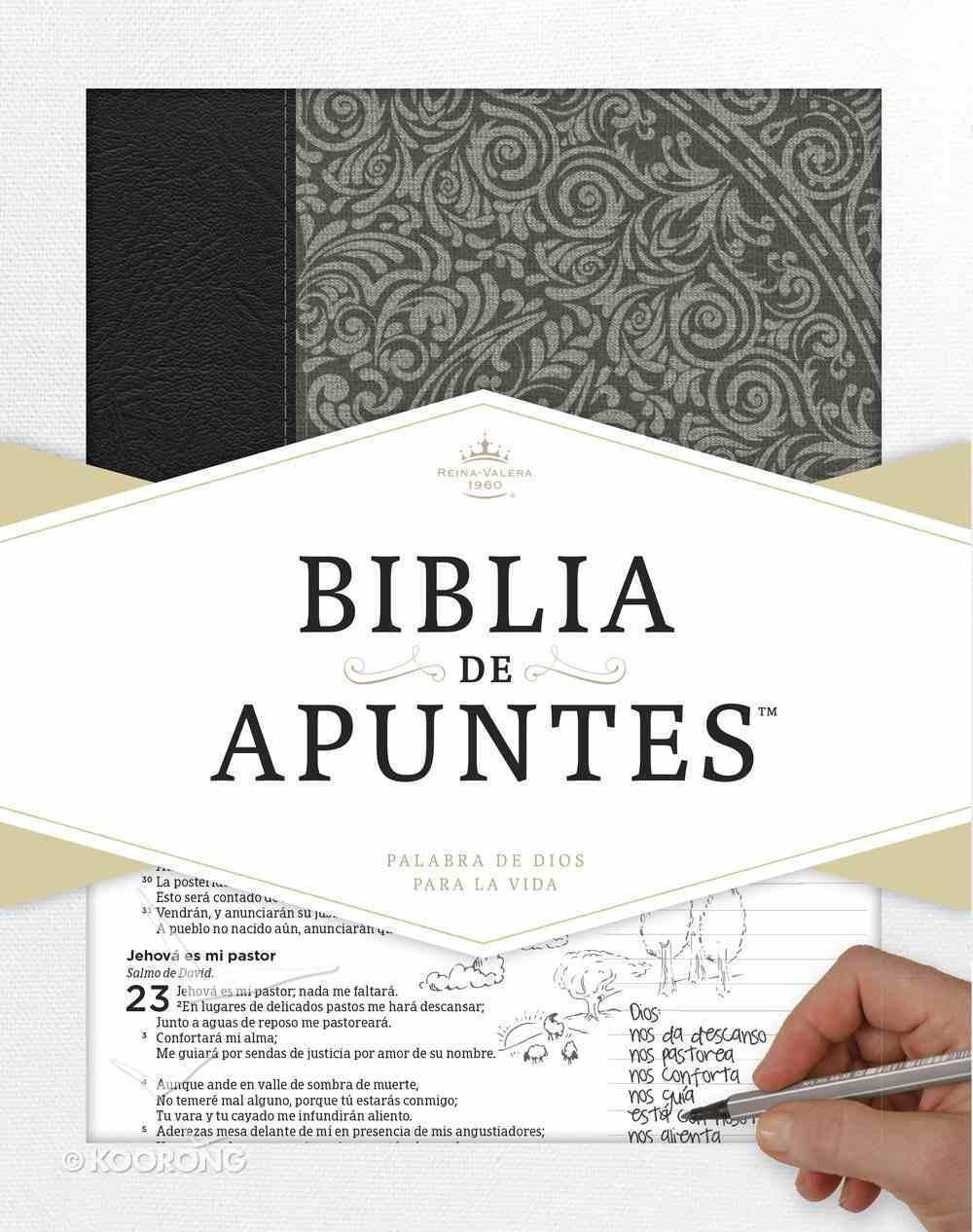 Rvr 1960 Biblia De Apuntes Gris (Notetaking Bible Grey) Hardback