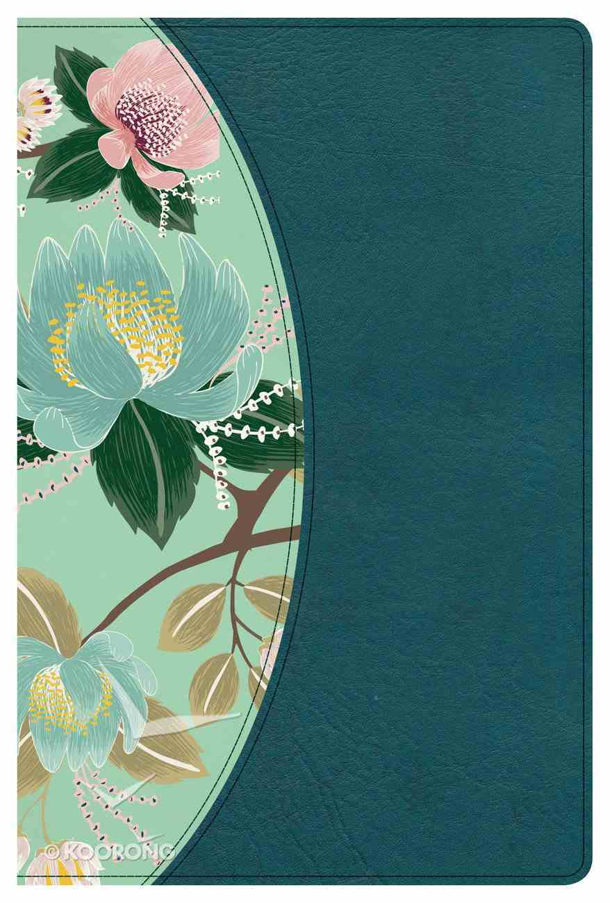 CSB Study Bible For Women Teal Flowers Indexed Imitation Leather