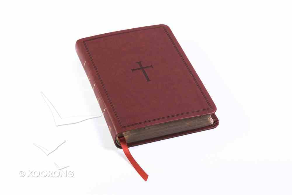 CSB Compact Ultrathin Reference Bible Brown Indexed (Red Letter Edition) Imitation Leather