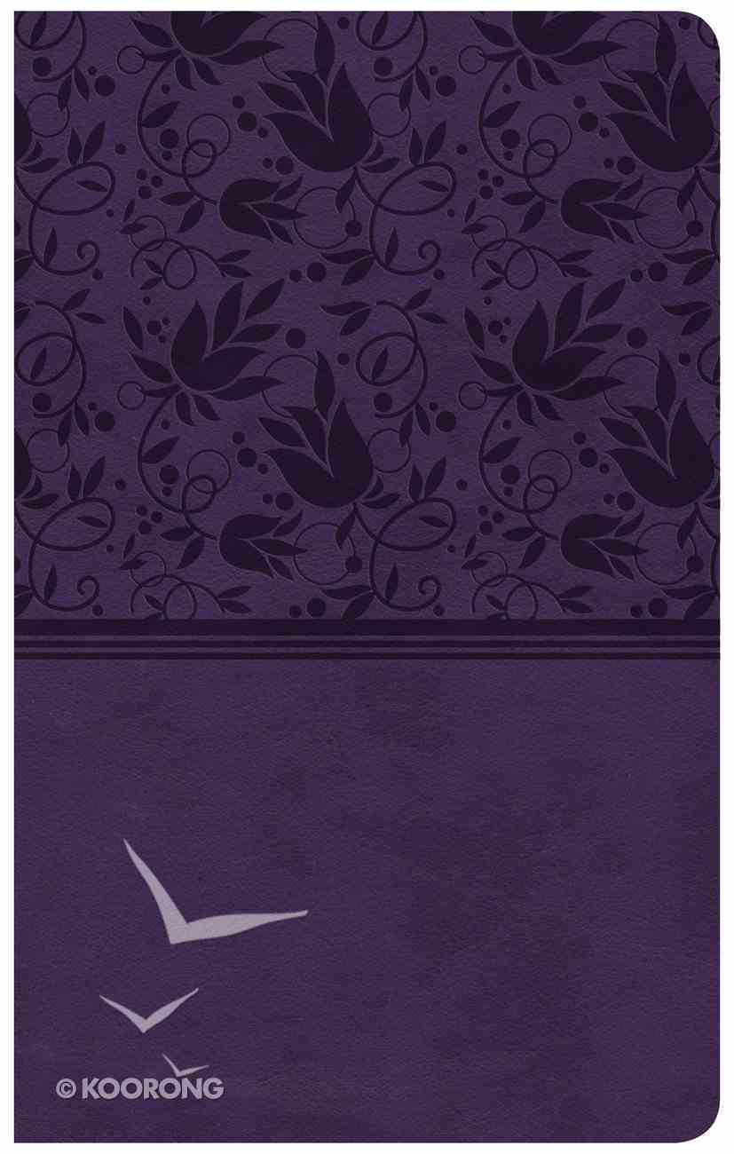 CSB Compact Ultrathin Reference Bible Purple Indexed (Red Letter Edition) Imitation Leather