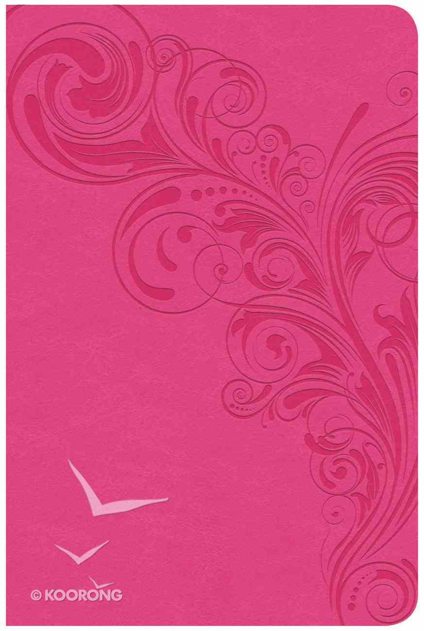 CSB Compact Ultrathin Reference Bible Pink (Red Letter Edition) Imitation Leather