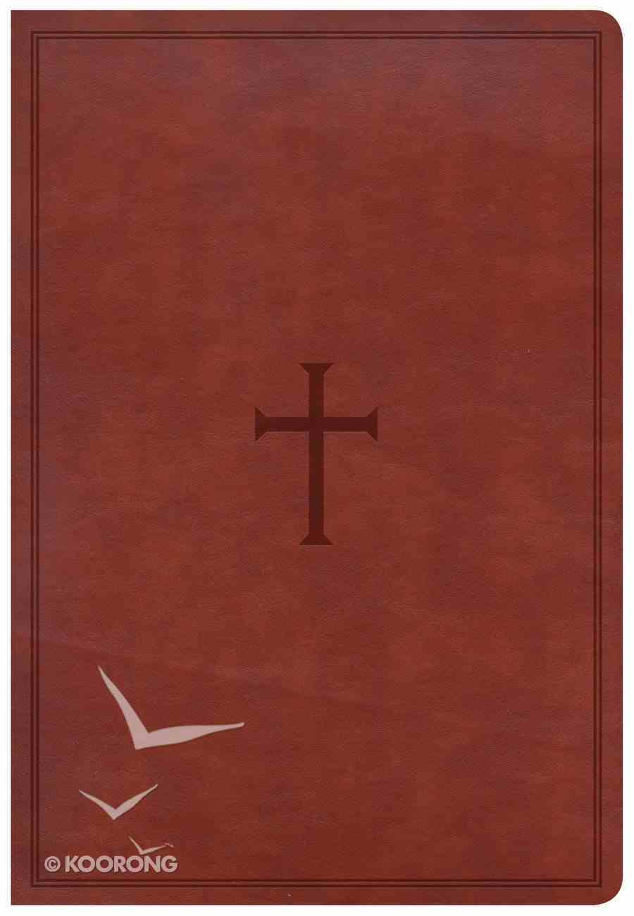 CSB Super Giant Print Reference Bible Brown Imitation Leather
