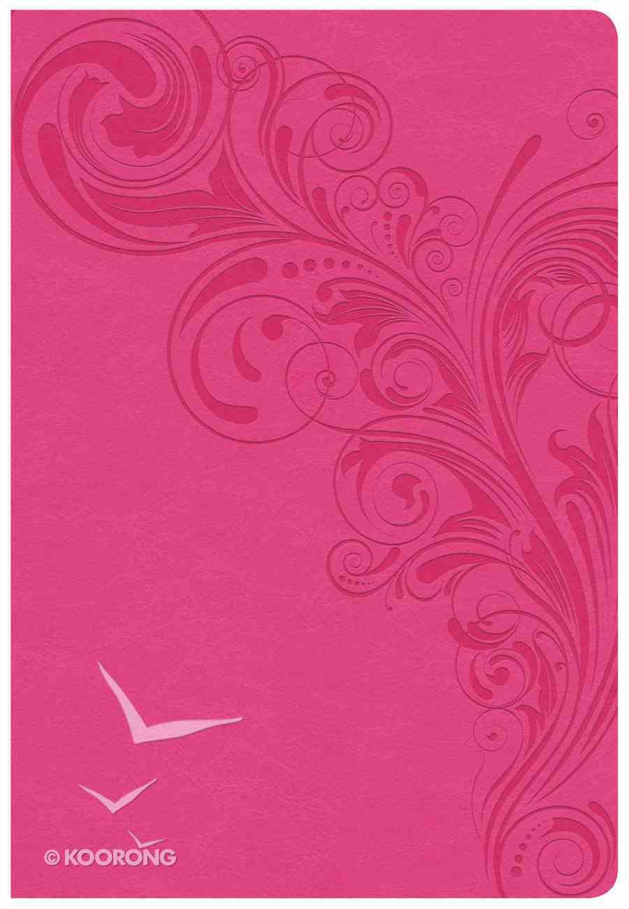 CSB Super Giant Print Reference Bible Pink Imitation Leather