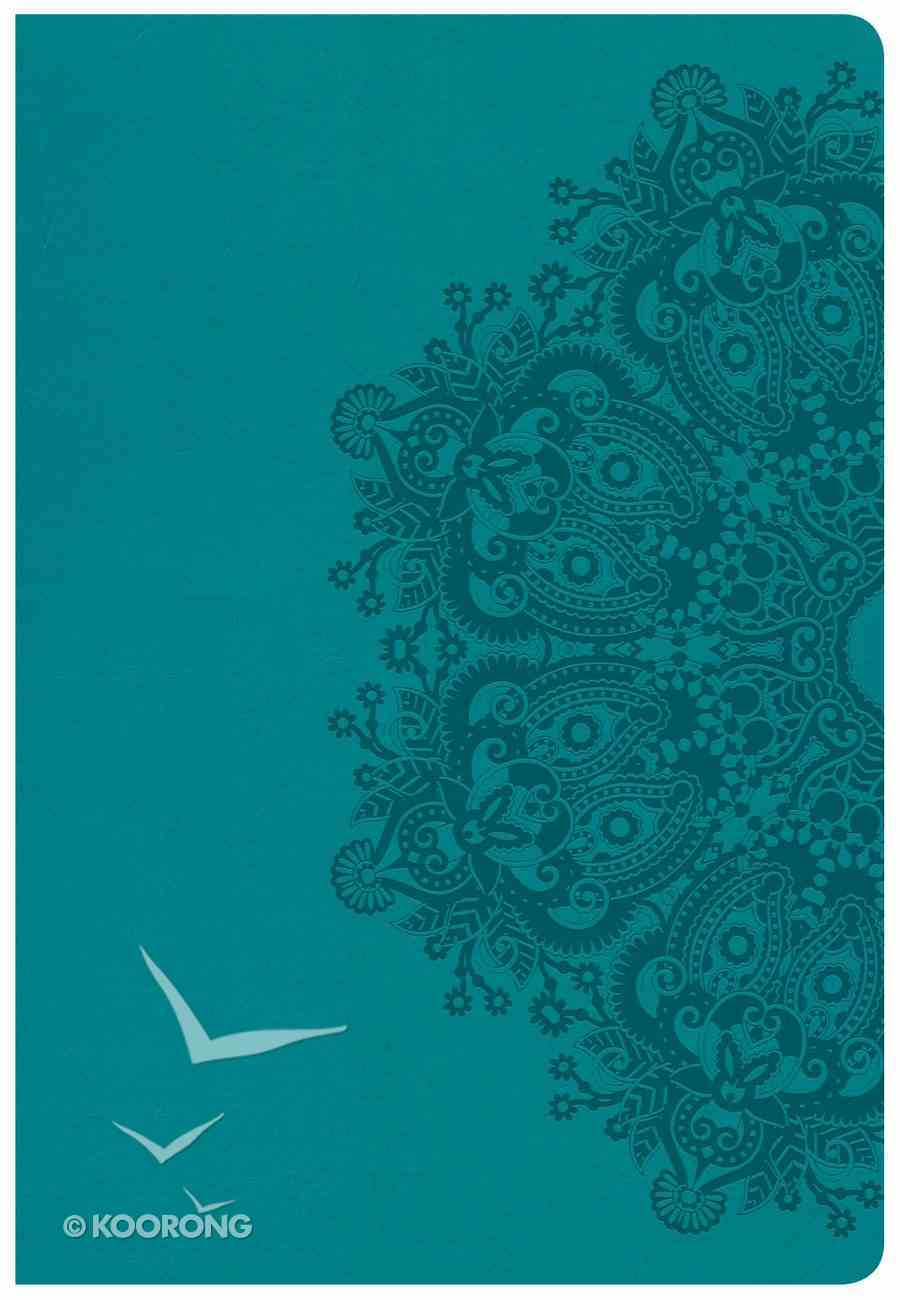 CSB Super Giant Print Reference Bible Teal Imitation Leather