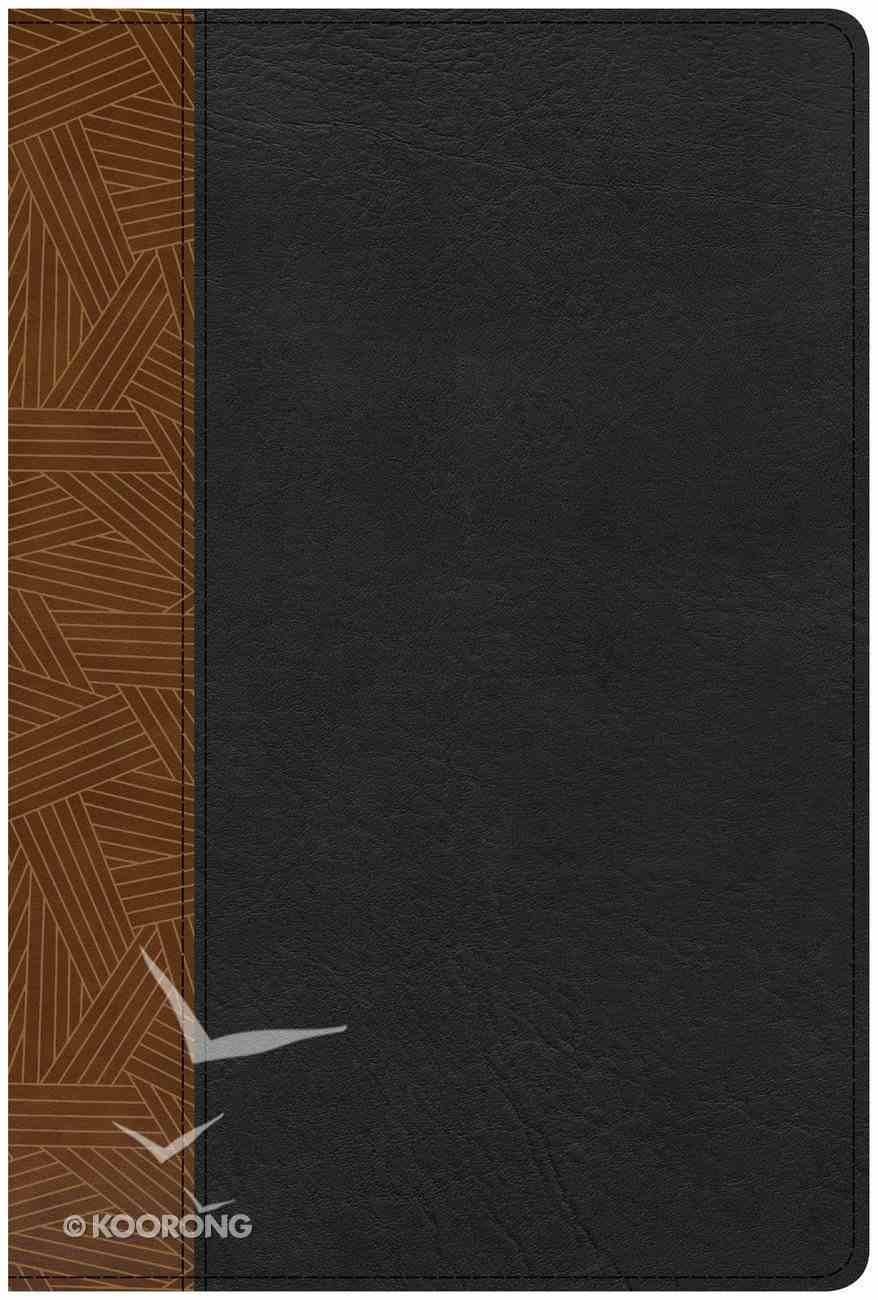 CSB Rainbow Study Bible Black/Tan Indexed Imitation Leather