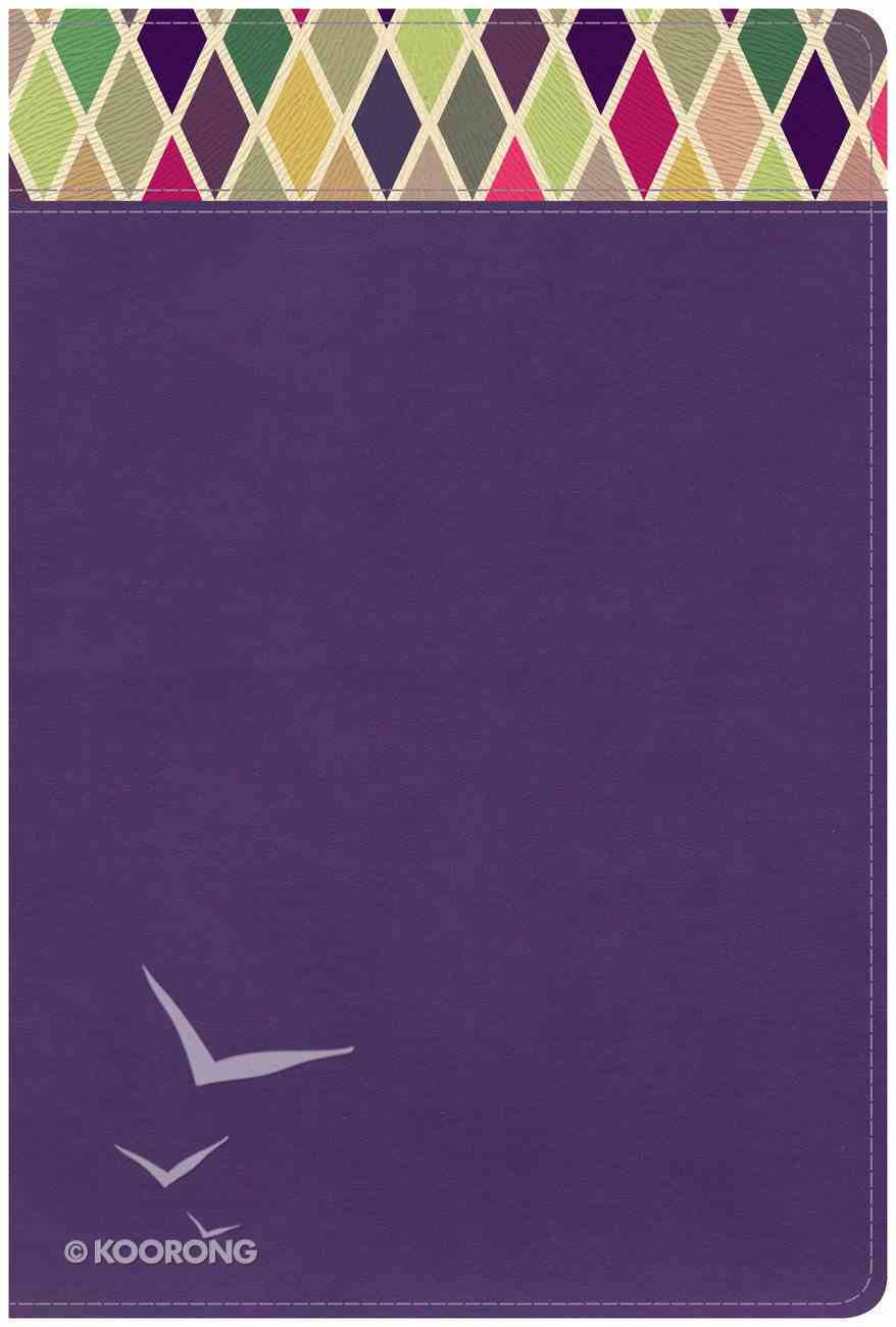 CSB Rainbow Study Bible Purple Imitation Leather
