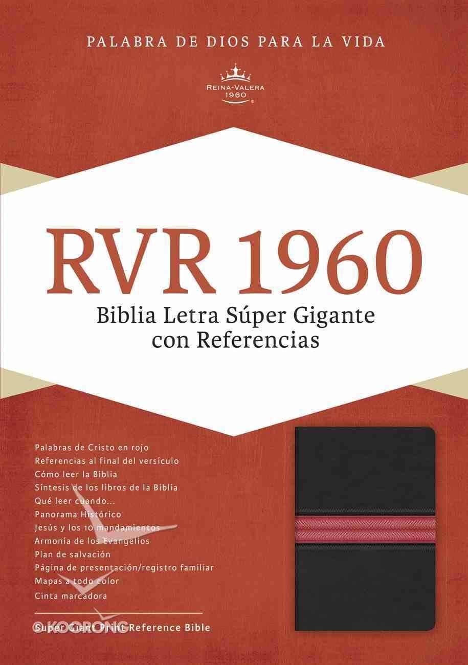 Rvr 1960 Biblia Letra Sper Gigante, Negro Piel Fabricada Edicin Con Ndice Y Cierre Bonded Leather