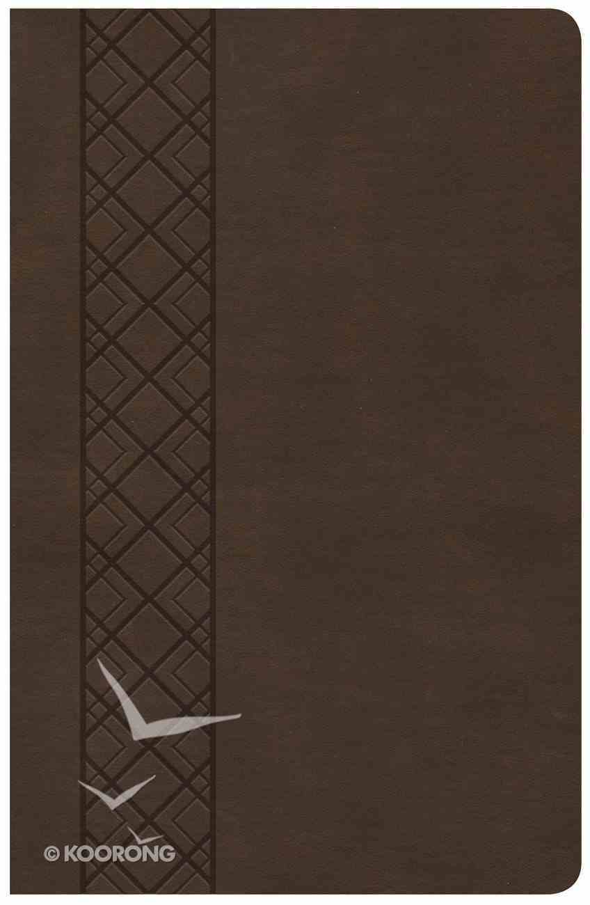 CSB Ultrathin Reference Bible Value Edition Brown Imitation Leather