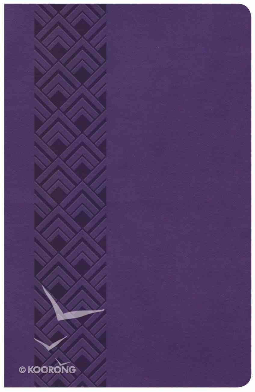 CSB Ultrathin Reference Bible Value Edition Purple Imitation Leather