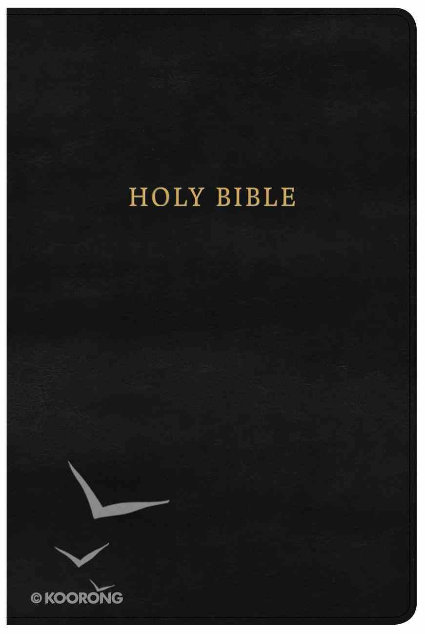 KJV Large Print Personal Size Reference Bible Classic Black (Red Letter Edition) Imitation Leather