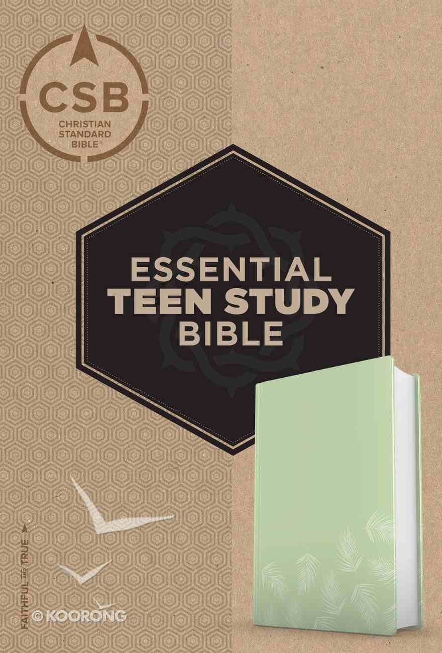 CSB Essential Teen Study Bible Personal Size Green Palms Imitation Leather