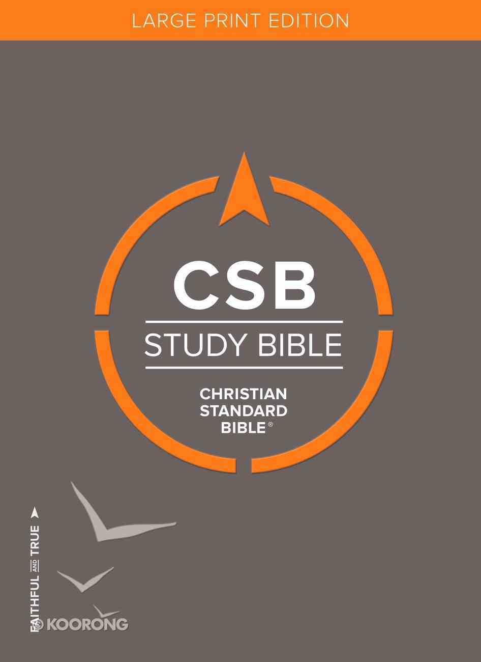 CSB Study Bible Large Print Hardback